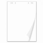 Блокнот для флипчарта Brauberg 50 листов, чистые