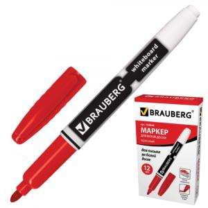 Маркер для доски BRAUBERG, красный