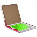Доска стеклянная зеленая магнитно-маркерная Brauberg, 45х45 см