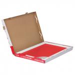 Доска стеклянная красная магнитно-маркерная Brauberg, 90х60 см