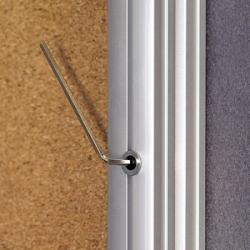 Доска витрина пробковая 2x3, 90х60 см