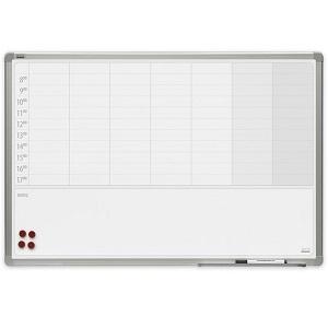 Доска-планер магнитно-маркерная на неделю 2x3, керамическая, 90х60 см