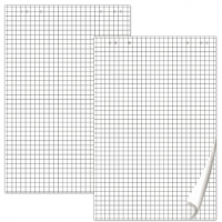 Блокноты для флипчарта Brauberg, комплект 5шт, 20 листов, в клетку