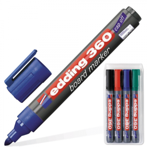 Набор маркеров для доски EDDING-360 4шт