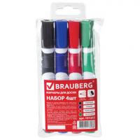 Набор маркеров для доски BRAUBERG SOFT 4шт