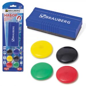 Набор для магнитно-маркерных досок (Стиратель+магниты)