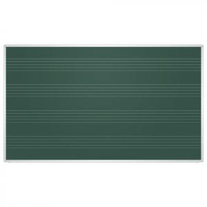 Доска для мела магнитная, нотный стан 2x3, 100х85 см