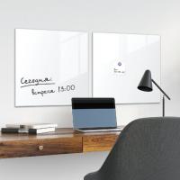 Доска стеклянная белая магнитно-маркерная Brauberg, 45х45 см