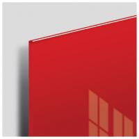 Доска стеклянная красная магнитно-маркерная Brauberg, 45х45 см