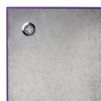 Доска стеклянная фиолетовая магнитно-маркерная Brauberg, 45х45 см