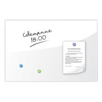 Доска стеклянная белая магнитно-маркерная Brauberg, 90х60 см