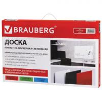 Доска стеклянная красная магнитно-маркерная Brauberg, 60х40 см