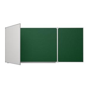 Доска для мела/маркера 3-х элементная 2x3, 170x100/340 см