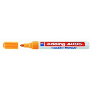 Маркер для меловых досок Edding-4095 оранжевый неон